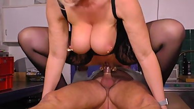 German Big Saggy Tits Granny Marina Montana Stockings kinky