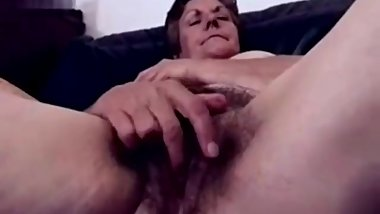Hairy granny masturbation. Amateur older.