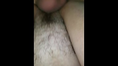 hairy granny squirts then takes a creampie pov