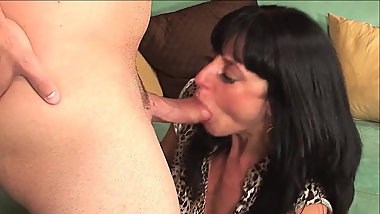 Sexy mature blowjob young cock