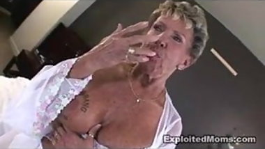 78yo Hot Granny fucked big black cock