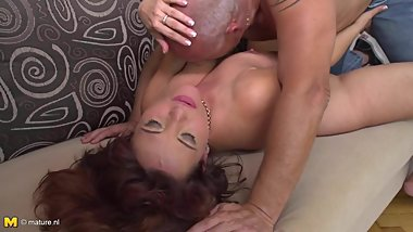 Lovely mothers gets some hard sex