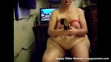 Submissive slut granny used by her master. Amateur older