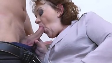 granny and grandson try taboo sex