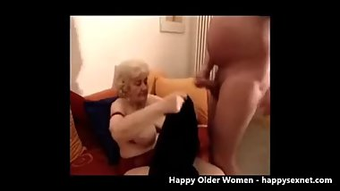 Having fun with neighborough granny. Amateur older