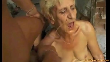 Ugly Granny gets DP cum piss farts by satyriasiss