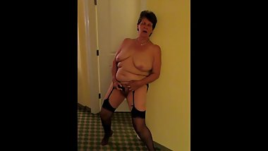 Granny Standing masturbating Part 1