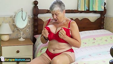 Granny Savana have to do it herself by EuropeMature