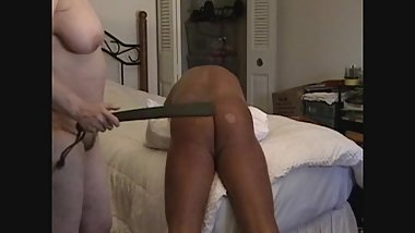 Granny 56 YO Paddles 46 YO Subs ASS - 420 Strokes with Multiple Paddles