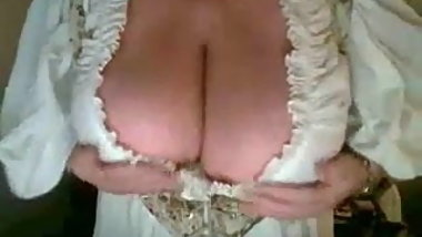 Granny playing with Her  Nipples