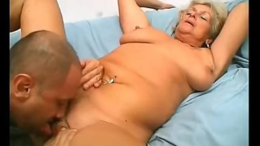 Blonde Mature Granny Pussy Is So Large His Cock Doesn't Fix Well Inside It!