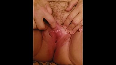 Licking cougar pussy
