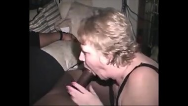 Hungry grandma sucking bbc and get cum in mouth