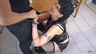 GERMAN STEP MOM SEDUCE SON TO FUCK AT KITCHEN WHEN DAD AWAY