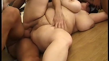 Hot fat big tits MILFs gang-banged