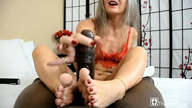 Leilani's Red Passion Footjob (Preview)