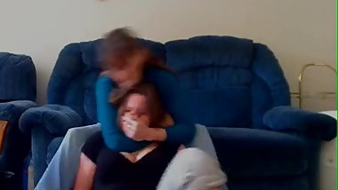 Granny smother her granddaughter