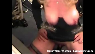 Amateur pervert granny with clamps on nipples