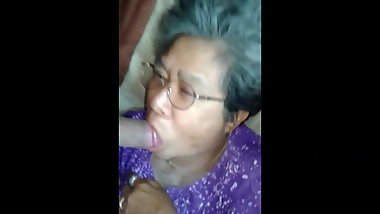 asian granny blowjob part 2