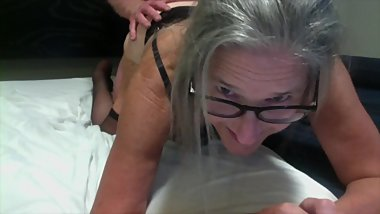 Hot Milf Gets Fucked Doggy Style Face Front Hubby Cums On Ass