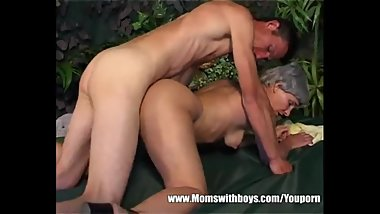 Hot Granny Cougar With Short Grey Hair And Perfect Body Fucked