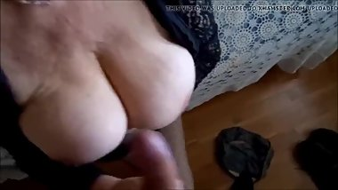Breasted Granny Handjob Cumshot