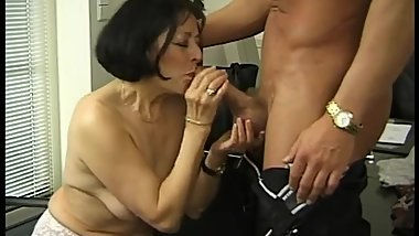 German granny gets her tits glazed