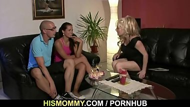 His mature mom is horny lesbian bitch!