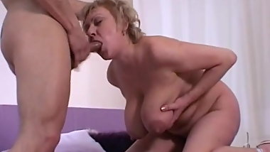 Granny's Huge Saggy Tits Manhandled