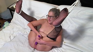 Hot Milf Spreads Wide And Toys Her Wet Pussy