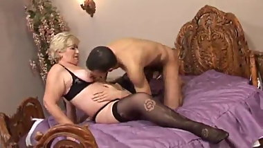 Granny sex with young