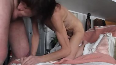 mature skinny blowjob