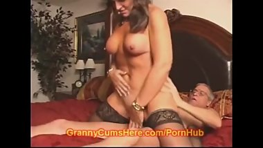 Filthy Dad And Granny Girl Fuck
