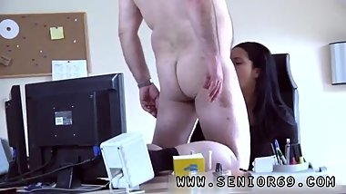 Granny kissing young guy first time The System-administrator came for a