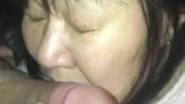 Japanese Mature Amateur Wife Blowjob Training