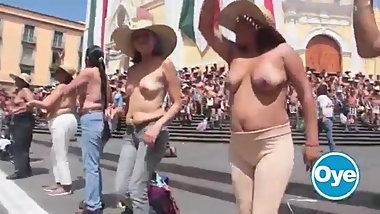 topless protest in mexico city