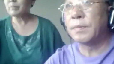 Asian Granny And Hubby Cam Sex