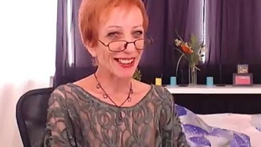 Skinny GILF's Transparent Blouse