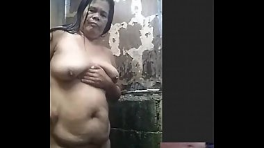 filipina chubby granny taking shower while i play with my dick on skype