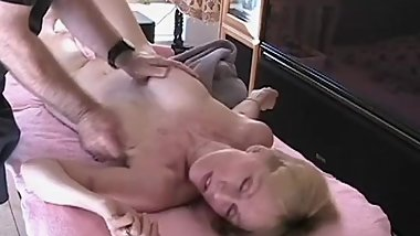 MILF Massage For Grandma Plus Blowjob