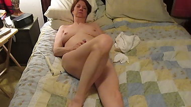 Julie masturbating