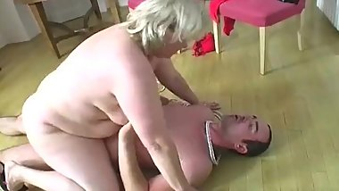 Chubby Mature Fat BBW Big Butt Granny Domination - 88