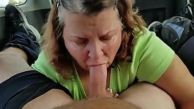 Cum in granny mouth